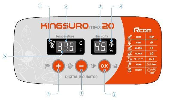 Incubadora R-COM King Suro 20 MAX